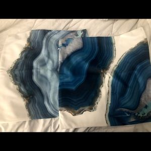 Blue Marble Design Pillow Covers